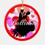 Ballroom dancers christmas tree ornaments
