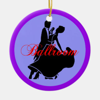 Ballroom dancers Double-Sided ceramic round christmas ornament