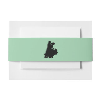 Ballroom Dancers Green Invitation Belly Band