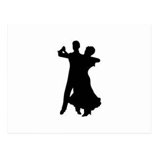 BALLROOM DANCERS POSTCARD