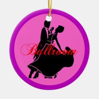 Ballroom dancers round ceramic decoration
