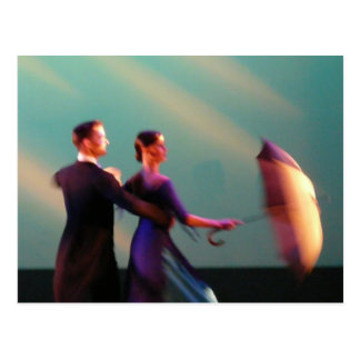 Ballroom Dancers with Umbrella Postcard