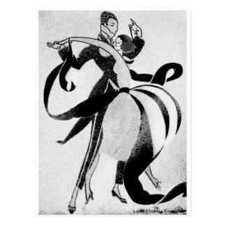 BALLROOM DANCING 2 BLACK AND WHITE/COLOR POSTCARD