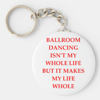 ballroom dancing basic round button key ring