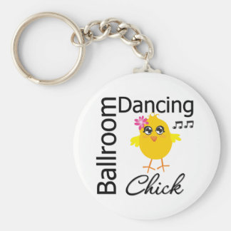 Ballroom Dancing Chick Basic Round Button Key Ring