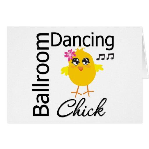 Ballroom Dancing Chick Greeting Card