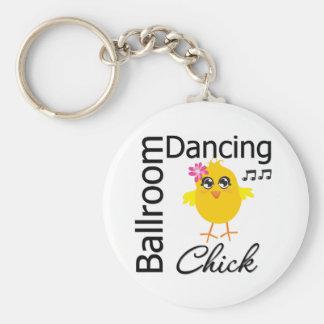 Ballroom Dancing Chick Keychains