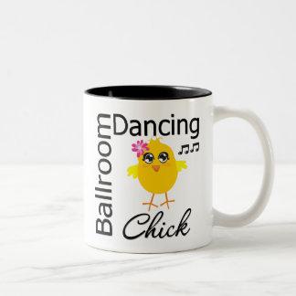 Ballroom Dancing Chick Two-Tone Coffee Mug