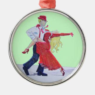 Ballroom Dancing Christmas tree ornament