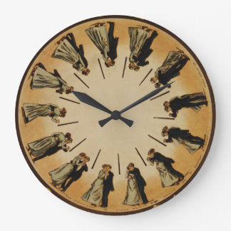 Ballroom Dancing Couple Waltzing 1898 Classic Wallclocks