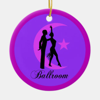 Ballroom dancing Double-Sided ceramic round christmas ornament
