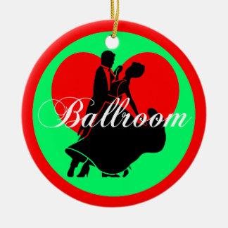 Ballroom dancing round ceramic decoration