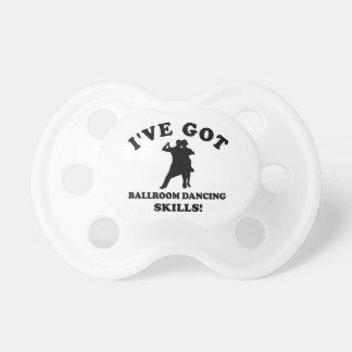 Ballroom dancing designs baby pacifiers