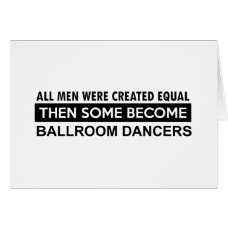 Ballroom dancing designs card