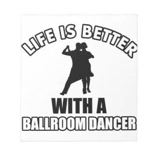 Ballroom dancing designs notepad
