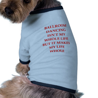 ballroom dancing dog t shirt