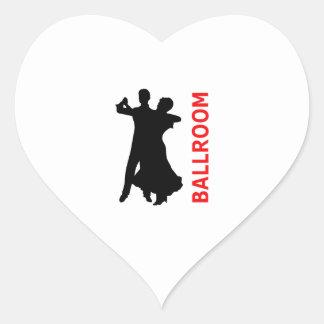 BALLROOM DANCING HEART STICKER