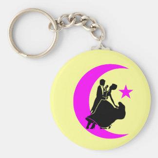 Ballroom Dancing Basic Round Button Key Ring