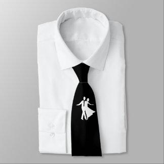 Ballroom Dancing Necktie Black and White