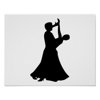 Ballroom dancing print