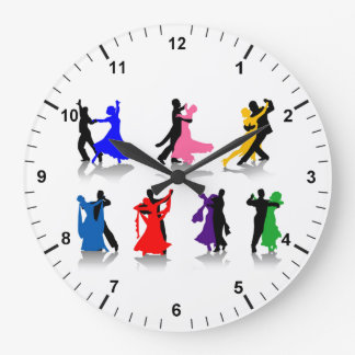 Ballroom Dancing Round Wall Clock