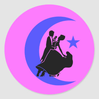 Ballroom Dancing Round Sticker