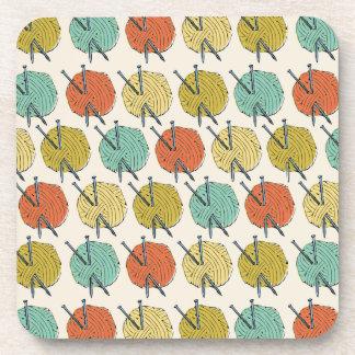 Balls of Wool Pattern Coaster
