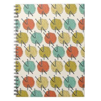 Balls of Wool Pattern Notebook