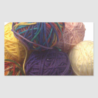 Balls of Yarn Rectangular Sticker