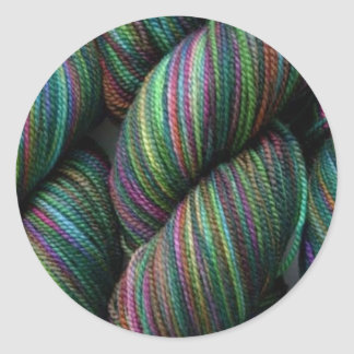 Balls of Yarn Round Sticker