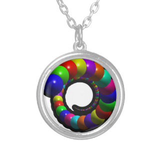 Balls out of Nowhere Silver Plated Necklace