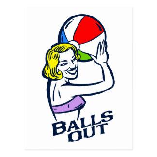 Balls Out Postcard
