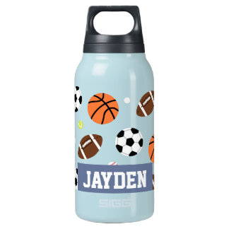 Balls Sports Themed Pattern For Boys Insulated Water Bottle