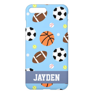 Balls Sports Themed Pattern For Boys iPhone 7 Plus Case