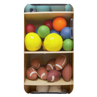 Balls stored in cabinet iPod touch covers