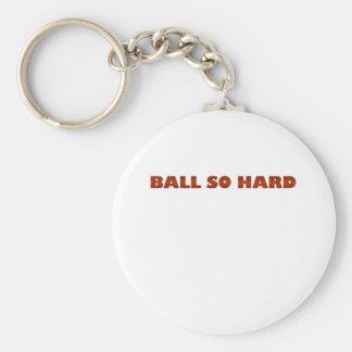 ballsohard.png basic round button key ring