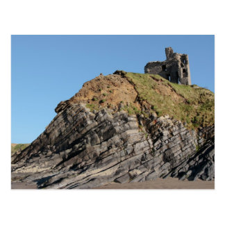 ballybunion castle on the cliff postcard