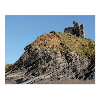 ballybunion castle on the cliff postcard