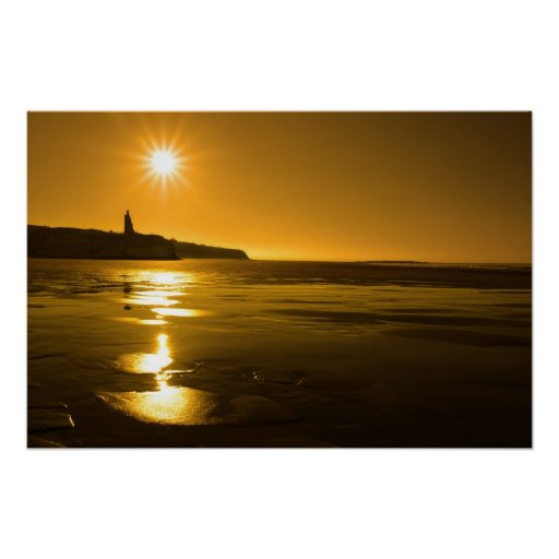 ballybunion sunny golden beach sunset poster