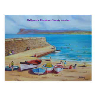 Ballycastle Harbour, County Antrim oil painting by Postcard