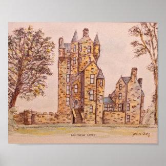 Ballymena Castle art by Joanne Casey Poster Paper