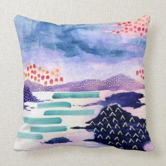 Balmaha in Colour Scottish Watercolour Cushion