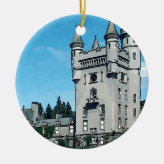 Balmoral Castle Round Ceramic Decoration