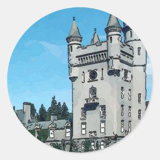 Balmoral Castle Round Sticker