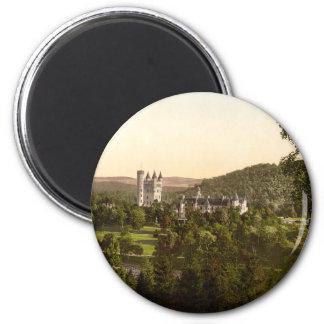 Balmoral Castle, Royal Deeside, Scotland 6 Cm Round Magnet