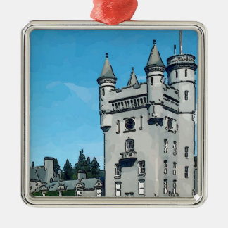 Balmoral Castle Silver-Colored Square Decoration