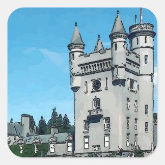 Balmoral Castle Square Sticker