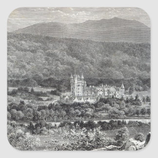 Balmoral, from 'Leisure Hour', 1888 Square Sticker