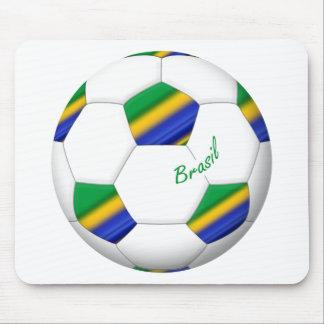 Balón de FÚTBOL BRASIL equipo campeón del mundo Tapetes De Raton