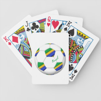 Balón de FÚTBOL BRASIL equipo campeón del mundo Baraja Cartas De Poker